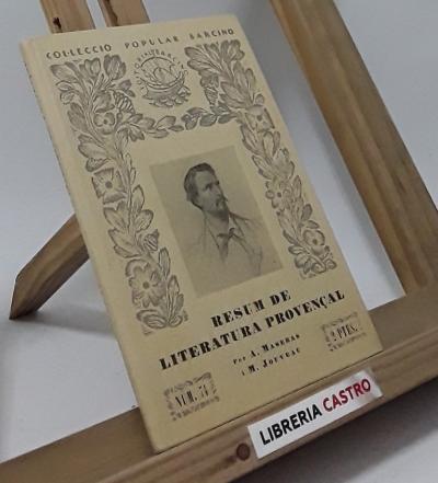 Resum de literatura provençal - Alfons Maseras i Marius Jouveau