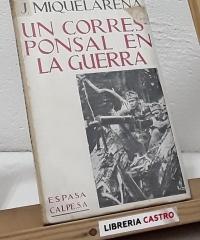 Un corresponsal en la Guerra - Jacinto Miquelarena