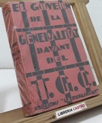 El Govern de la Generalitat davant del Tribunal de Garanties Constitucionals - Varios