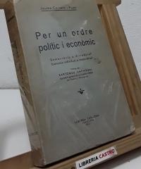 Per un ordre polític i econòmic - Jaume Carrera i Pujal