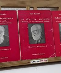 Marxismo y Revisionismo. I Socialismo evolucionista. II La doctrina socialista. III Reforma o revolución (III Tomos) - Eduard Bernstein, Karl Kautsky y Rosa Luxemburg