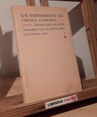 Un experiment de crítica literària - C. C. Lewis