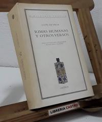 Rimas humanas y otros versos - Lope de Vega Carpio