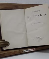 Recuerdos de Italia - Emilio Castelar