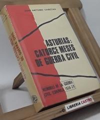 Asturias: catorce meses de guerra civil - Juan Antonio Cabezas