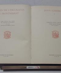 Mestres d l'Escolania de Montserrat. Joan Cererols Volum I - Joan Cererols
