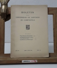 Boletín de la Universidad de Santiago de Compostela. Año VII. Núm. 24. Abril - Junio 1935 - Varios