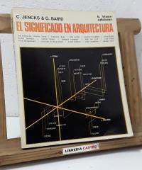 El significado en arquitectura - C. Jencks & G. Baird