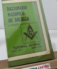 Diccionario masónico de bolsillo - L. Giles