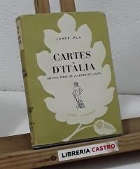 """Cartes d'Itàlia. Segona sèrie de """"Cartes de Lluny"""" - Josep Pla"""