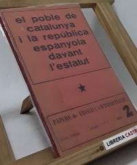 El poble de Catalunya i la república espanyola davant l´estatut - Varis