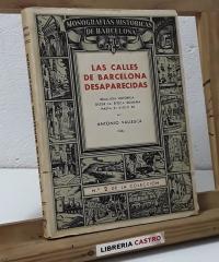 Las calles de Barcelona desaparecidas - Antonio Vallescá