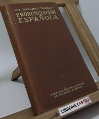 Pronunciación española - T- Mavarro Tomás