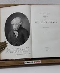 Kritik der reinen vernunft - Immanuel Kant's