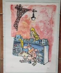 Litografía de Kap. 67º Fira del Llibre d'Ocasió Antic i Modern 47/120 - Jaume Capdevila, KAP
