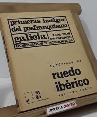 Primeras huelgas del posfranquismo. Galicia - Varios