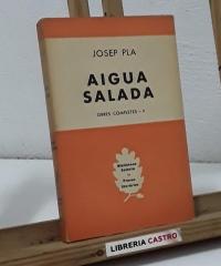 Aigua salada (bodegó amb peixos) - Josep Pla