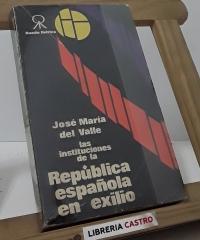Las instituciones de la República española en exilio - José María del Valle