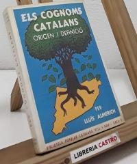 Els cognoms catalans. Origen i definició - Lluís Almerich