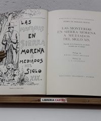 Las Monterías en Sierra Morena a mediados del Siglo XIX. Seguida de la historia de un jabalí, contada por él mismo. (Facsímil y numerado) - Pedro de Morales Prieto