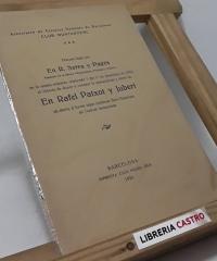 Discurs llegit per en D. R. Serra y Pagès. President de la Secció d´Arqueología, Filología y Folklore, al objecte de donar a conèxer la personalitat y obres de en Rafael Patxot y Jubert - R. Serra y Pagès