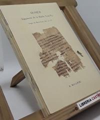 Papirs i pergamis de Barcelona: I et II in Catilinam. Inv. 10, 11, 42, 43, 46, 47, 84, 154b, 156a, 156b, 6-25, 1-5, 158-161 - Varios