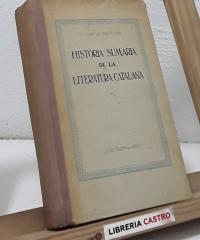 Història sumària de la literatura catalana - Manuel Garcia Silvestre