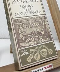 Historia de la Música Española - Ann Livermore