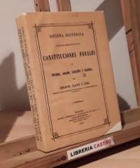Reseña histórica y analísis comparativo de las constituciones forales de Navarra, Aragón, Cataluña y Valencia (Facsímil) - Serafín Olave y Diez