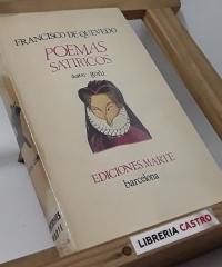 Poemas satíricos (edición numerada) - Francisco de Quevedo