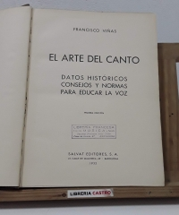 El arte del canto - Francisco Viñas