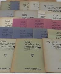 Club Muntanyenc Barcelonès. Diversos butlletíns del anys 1931, 1932, 1933, 1934, 1935, 1936 i 1937. En lot o solts (XXVII butlletins) - Varis
