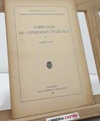 Fabricació de conserves vegetals - Ramón Sala