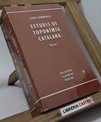Estudis de toponímia catalana (II volums) - Joan Coromines