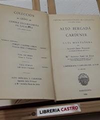 Alto Bergadá y Cardener - Agustín Jolis y Mª Antonia Simó