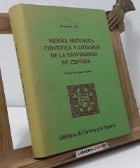 Reseña histórica científica y literaria de la universidad de Cervera - Federico Vila