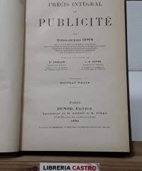 Précis intégral de publicité - Octave - Jacques Gérin