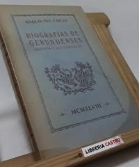 Biografías de gerundenses - Joaquín Pla Cargol