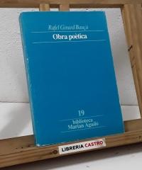 Obra poètica - Rafel Ginard Bauçà