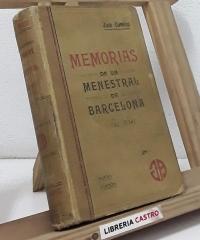 Memorias de un menestral de Barcelona 1792-1854 - José Coroleu