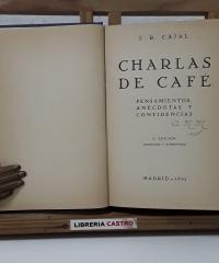 Charlas de café - Santiago Ramón y Cajal