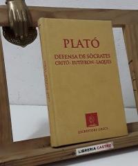 Plató. Defensa de Sòcrates. Critó. Eutífron. Laques (Facsímil) - Plató