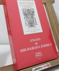 Ensayo de bibliografía juridíca - Varios