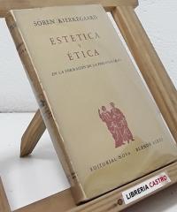 Estética y etica. En la formación de la personalidad - Sören Kierkegaard