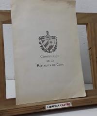 Constitución de la República de Cuba - Varios