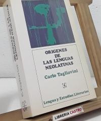 Orígenes de las lenguas neolatinas - Carlo Tagliavini