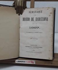 Almanaque del Diario de Barcelona. Año 1887 - Varios