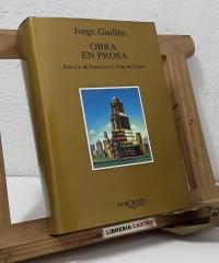 Obra en prosa - Jorge Guillén